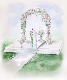 эскиз свадебной арки