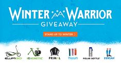 Rain or snow? You still GO. Win the ultimate winter training package, featuring an ElliptiGO bike, a Kinetic trainer, 1-year supply of Nuun and more kickass gear. All worth $5,000. Let's GO!