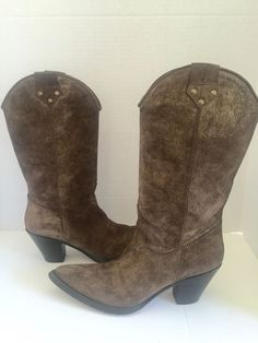BARNEYS NEW YORK Leather Boots 38.5  Size Sz US 8  Made in Italy #BarneysNewYork #LeatherBoots