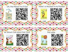Listening Center with QR Codes {Dr. Seuss}