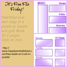 FREE inserts for A5 size planners http://www/happilyembellished.com