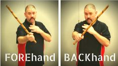 This little cue can really help when teaching people the Modern Arnis 12 Angles of Attack - or any time where it's important to know when to use a forehand, or a backhand...
