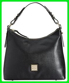 Dooney & Bourke Saffiano Leather Hobo,Black - Shoulder bags (*Amazon Partner-Link)