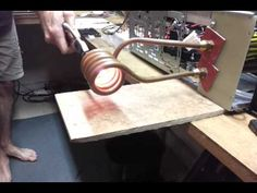 Home build induction heater - Induction heating, oil forges, etc - I Forge Iron - heater - Tattoo-Ideen Home Forge, Diy Forge, Induction Forge, Induction Heating, Blacksmith Projects, Welding Projects, Projects To Try, Diy Heater, Metal Fab