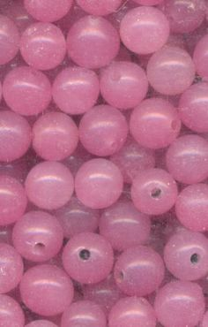 vintage Japanese glass half-drilled beads in rose quartz