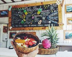 IMG_5505.JPG     A LITTLE TASTE of PARADISE  NALU: HAWAIIAN word for WAVE. Nalu Bowls is Bali's first smoothie bowl shack catering to those who crave a sweet & refreshing treat on those balmy Bali days. We offer fresh LOCAL ingredients, homemade granola baked fresh everyday, and recipes that will leave your taste buds happy.  We source all of our ingredients daily on the beautiful island of Bali. Infusing the tastes of the local dragon fruit, fresh coconut flesh, mango, papaya, spinach…