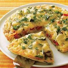 Give leftover turkey a second chance by adding an assortment of your favorite fresh vegetables to eggs and smoked Gouda cheese for a quick and easy frittata recipe.