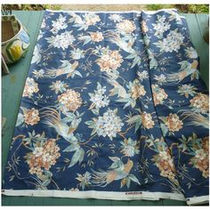 5th Avenue Designs Birds and Flowers Print Decorator Fabric 9 1/3 Yards Wonderful vintage 1982 printed fabric with pattern  with beautiful birds and