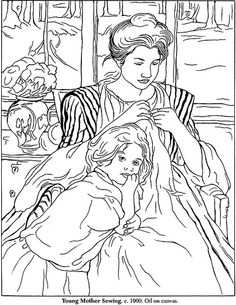 mary cassatt coloring pages | Recent Photos The Commons Getty Collection Galleries World Map App ...