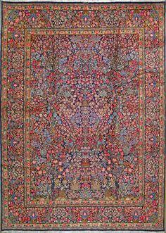 """Kerman Persian Rug, Buy Handmade Kerman Persian Rug 9' 4"""" x 13' 3"""", Authentic Persian Rug $4,454.00"""