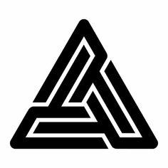 (Black Pyramid Logo) Behind The Right Ear.