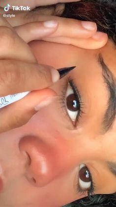 Edgy Makeup, Makeup Eye Looks, Eye Makeup Art, Natural Eye Makeup, Pretty Makeup, Makeup Tips, Makeup Tutorial Eyeliner, Makeup Looks Tutorial, No Eyeliner Makeup
