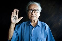 pictured: 'u win tin' - former journalist, writer and founding member of the NLD, was arrested in 1989 because of his political activities and close association to aung san suu kyi.   he was jailed for 19 years in insein prison, mostly in solitary confinement. his sentence was increased whilst in prison when he secretly published anti-government propaganda.