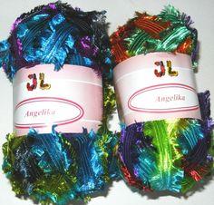2 sk Fringe Ribbon Angelika Yarn  free shipping by JuliaLCraft, $7.00