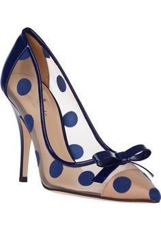 "Blue dots Pumps from Kate spade ""Lisa"" Pretty Shoes, Beautiful Shoes, Cute Shoes, Me Too Shoes, Shoe Boots, Shoe Bag, Women's Shoes, Prom Shoes, Fall Shoes"