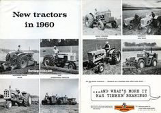 #VintageAdWednesday with Timken Bearings on the new tractors in 1960. (Farm & Power Equipment, September 1960) #HeritageIron #MuscleTractor