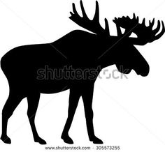 Moose Silhouette Stock Images, Royalty-Free Images ...