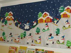 Mural Hivern Navidad Navidad Invierno Murales De Navidad Y