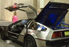 Electric DeLorean at the 2012 New York International Auto Show. Big question is: Where's the flux capacitor?