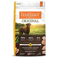 Instinct Original Grain Free Recipe with Real Duck Natural Dry Dog Food by Nature's Variety, 20 lb. Bag -- You can find out more about the great product at the image link. (This is an affiliate link and I receive a commission for the sales) Food Dog, Dry Cat Food, Dog Food Recipes, Free Recipes, Grain Free Dog Food, Free Food, Chicken For Dogs, Raw Chicken, Free Chickens