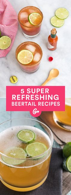 5 Beertail Recipes That Blend the Best of Both (Boozy) Worlds #beertails #beer #cocktails http://greatist.com/eat/beertail-recipes