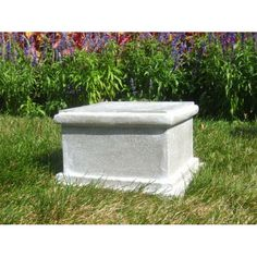 Sella Riser Stand Pedestal Statue Base - Stone - Statue Base - This item is made-to-order and can take weeks before shipping, not delivery. Statue Base, Small Water Features, Outdoor Garden Statues, Stone Statues, Lawn And Garden, Water Garden, Urn, Pedestal, Container Gardening