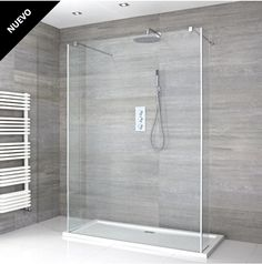 Milano Portland – Floating Walk-In Shower Enclosure with Tray and Hinged Return Panels – Choice of Sizes - Modern Bathroom Shop, Big Bathrooms, Bathroom Interior, Modern Bathroom, Small Bathroom, Wet Room Shower, Shower Drain, Portland, Douche Walk In