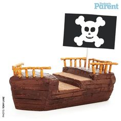 Ahoy, me hearties! This pirate ship cake is one of our most popular birthday cake ideas—with both kids and adults. It looks impressive but is easy to make.