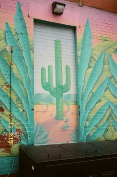 Hand painted cactus street art. South west. #ad
