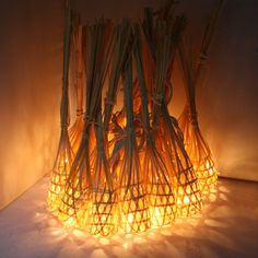 GaiaShine Handmade Bamboo Baskets String Fairy Outdoor Lanterns Patio Lights US | Home & Garden, Yard, Garden & Outdoor Living, Outdoor Lighting | eBay!