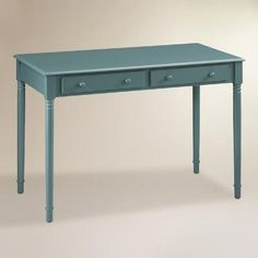 One of my favorite discoveries at WorldMarket.com: Agate Green Wood Farran Writing Desk