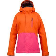 Burton Women's Horizon Jacket (Clockwork/Hot Streak) Women's Snowboard... ($100) ❤ liked on Polyvore
