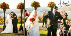 You may now kiss the bride! The Cliffs Resort Weddings.