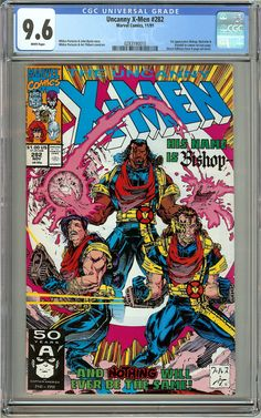 The Uncanny X-Men #282 (1991) CGC 9.6 White Pages Certification Number 0283190010