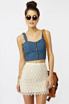 fashion cropped top