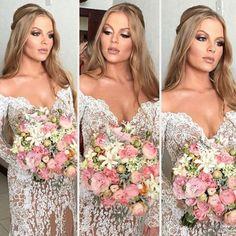 A Maquiagem do Casamento de Luísa Sonza Trendy Wedding, Elegant Wedding, Rustic Wedding, Dream Wedding, Best Wedding Makeup, Weeding Dress, Rustic Bouquet, Braut Make-up, Bride Makeup