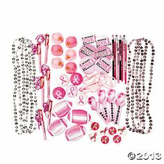 """Pink"" breast cancer awareness assortment of goodies at Oriental Trading Co. - $36.00 for 250 pieces"