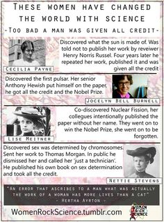 These Women have Changed the World with Science - Too Bad a Man was Given all Credit