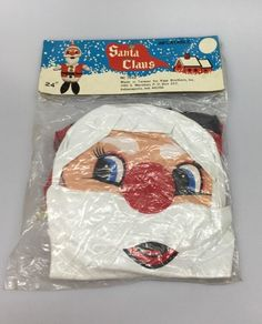 "Vintage Santa Claus Christmas Toy Inflatable 24"" Kipp Brothers NOS Vinyl Blow Up"