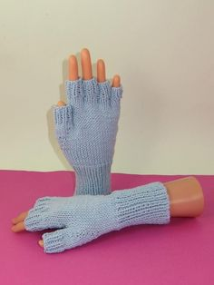 Looking for your next project? You're going to love Simple Short Finger Gloves  by designer madmonkeyknits.