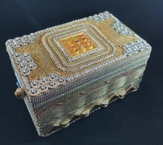 Tea box made of repurposed jewelry jewelry box treasure box
