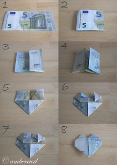 How to Make a Heart Money.jpg – Diy Gifts Ideas – Geschenke – super gifts How to Make a Heart Money.jpg – Diy Gifts Ideas – Geschenke How to Make a Heart Money. Don D'argent, Diy Wedding, Wedding Gifts, Creative Money Gifts, Gift Money, Money Origami, Origami Tutorial, Love People, Diy Gifts