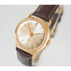 Rare gold plated watch Vostok Precision (€175) via Polyvore featuring jewelry, gold plated jewelry and gold plated jewellery