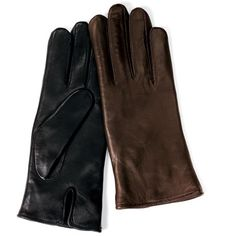 The Heat-Storing Leather Gloves (Women's) - Hammacher Schlemmer