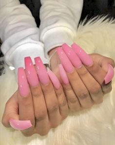 In search for some nail designs and ideas for your nails? Here's our list of 30 must-try coffin acrylic nails for trendy women. Aycrlic Nails, Sexy Nails, Dope Nails, Trendy Nails, Pink Nails, Stiletto Nails, Glitter Nails, Nails 2016, White Nails