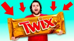 DIY GIANT TWIX - How To Make HUGE Twix Candy Bar! y'all this giant twix DIY was literally so fun to make, i love making giant candies! Giant Twix, Giant Candy, Giant Food, Snack Recipes, Snacks, Chips, Bar, Chocolate, Candies