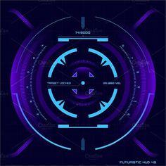 Futuristic touch screen UI