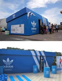 This Adidas pop-up shop does an excellent job of a new way of perceiving their new shoe, since having to go into the shoebox to see their new shoe.