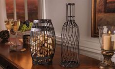 Metal Barrel Wine/Cork Cage (2 to choose from)-Gifts; Home Decor; Wine cork Holders; Wine; Corks; Wine Corks;