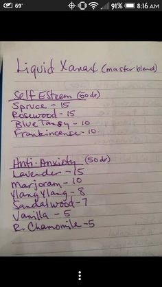 Essential oil diy liquid xanax - make each pre-made blend with all your own individual oils. DILUTE to with carrier oil! Doterra Essential Oils, Natural Essential Oils, Young Living Essential Oils, Essential Oil Diffuser, Essential Oil Blends, Doterra Oil, Healing Oils, Aromatherapy Oils, Essential Oils